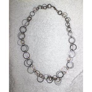 Daisy Fuentes Linked Circles Mixed Metals Necklace